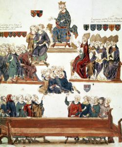 The Trial of Robert d'Artois Count of Beaumont 1331 by Nicolas Claude Fabri de Peiresc