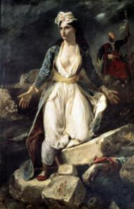 Greece expiring on the Ruins of Missolonghi 1852 by Ferdinand Victor Eugene Delacroix