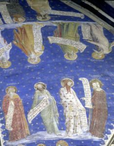 The Prophets Job Isaiah Jeremiah Solomon Moses Ezekiel David and Enoch c.1353 by Matteo Giovanetti