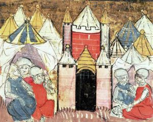 The Siege of Chateau-Gaillard in 1204 by French School
