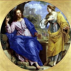 Christ and the Woman of Samaria at the Well 1648 by Philippe de Champaigne