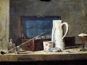 Still Life of Pipes and a Drinking Glass by Jean Baptiste Chardin