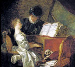 The Music Lesson by Jean-Honoré Fragonard