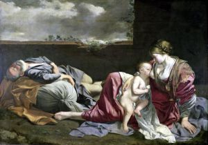 The Rest on the Flight into Egypt 1628 by Orazio Gentileschi