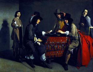 The Backgammon Players by Antoine Le Nain