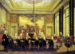 The Council of Regency for the Minority of Louis XV 1715 by French School