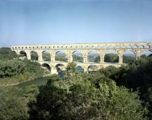 View of the Roman aqueduct by Roman Art