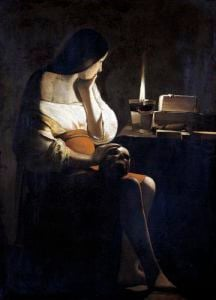 Mary Magdalene with a Night-light by Georges De La Tour