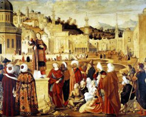 St. Stephen Preaching by Vittore Carpaccio