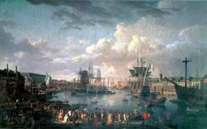 View of the Port at Brest by Jean-Francois Hue