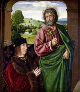 Peter II Duke of Bourbon presented by St. Peter c.1492 by Master of Moulins Jean Hey