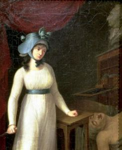 Charlotte Corday and the Assassination of Jean Paul Marat in his Bath 1793 by French School