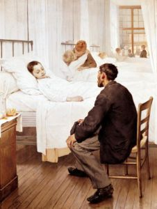Visiting Day at the Hospital 1889 by Henry Jules Jean Geoffroy