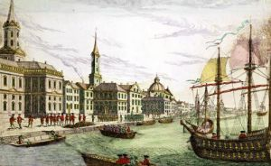 Disembarking of the English Troops at New York 1776 by Franz Xavier Habermann