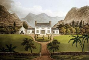 Bonaparte's Mal-Maison at St. Helena 1821 by John Hassell