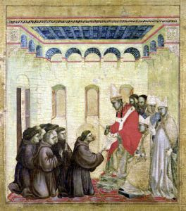 Pope Innocent III Approving the Rule by Giotto di Bondone