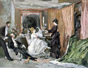 The Dressing Room of Hortense Schneider 1873 by Edmond Morin