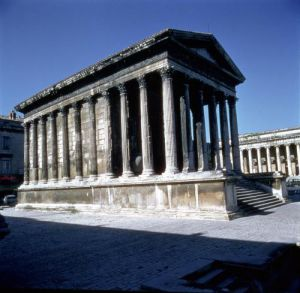 View of the Maison Carree by Roman Art
