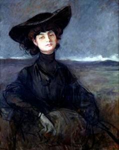 Anna de Noailles by Jean-Louis Forain