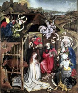 Nativity c.1425 by Robert Campin Master of Flemalle
