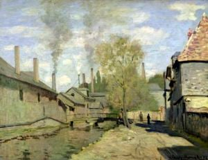 The Stream of Robec at Rouen 1872 by Claude Monet