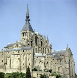 View of the Abbey, Mont St Michel by Anonymous