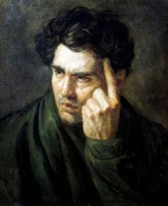 Portrait of Lord Byron by Jean-Louis-André-Théodore Géricault