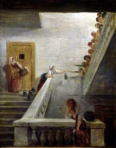 Distributing Milk at St. Lazare Prison 1794 by Hubert Robert