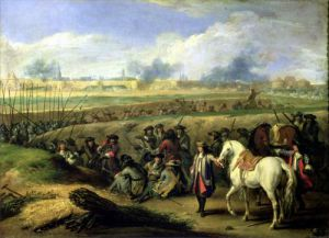 Louis XIV at the Siege of Tournai 1667 by Adam Frans van der Meulen