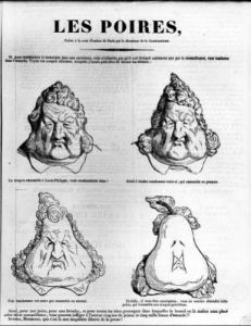 Les Poires caricature of King Louis-Philippe by Charles Philipon