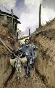 The Donkey Somme 1916 by Francois Flameng