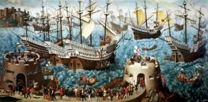 Embarkation of Henry VIII on Board the Henry Grace a Dieu in 1520 by Friedrich Bouterwek