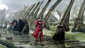 Richelieu on the sea wall at La Rochelle 1881 by Henri-Paul Motte