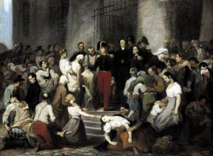 The Duke of Orleans Visiting the Sick during the Cholera Epidemic in 1832 by Alfred Johannot