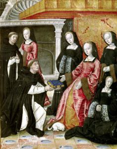 The Author Offering his Book to Anne of Brittany c.1505 by French School