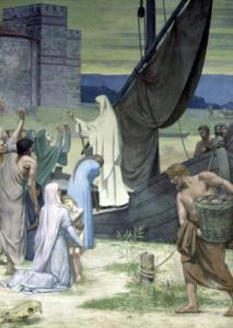 St. Genevieve Bringing Supplies to the City of Paris after the Siege by Pierre Puvis de Chavannes