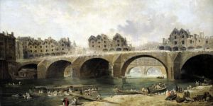 Demolition of the Houses on the Notre-Dame Bridge c.1786 by Hubert Robert