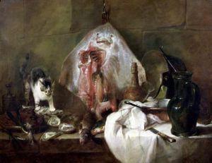 The Kitchen Interior 1728 by Jean Baptiste Chardin