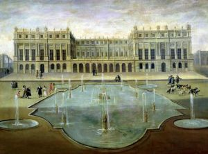 Chateau de Versailles from the Garden Side by French School