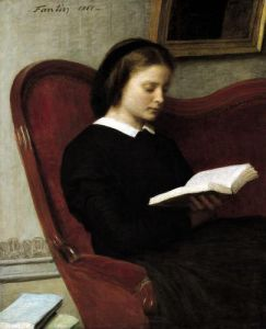 The Reader 1861 by Ignace-Henri-Théodore Fantin-Latour