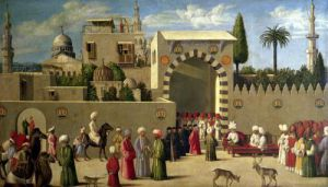 The Reception of Domenico Trevisani in Cairo in 1512 by Italian School