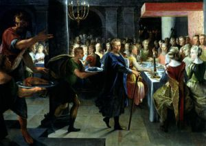Dice Offering a Banquet to Francus by Toussaint Dubreuil