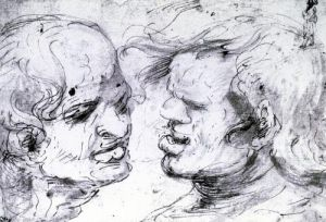 Two Heads by Leonardo da Vinci