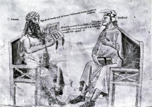 Averroes in Conversation with Porphyry by Italian School