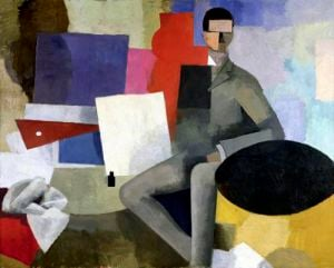 The Seated Man by Roger de la Fresnaye