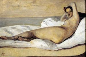 The Roman Odalisque 1843 by Jean-Baptiste-Camille Corot