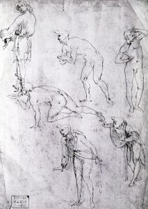 Six Figures Study for an Epiphany by Leonardo da Vinci