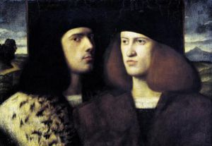 Portrait of Two Young Men by Italian School