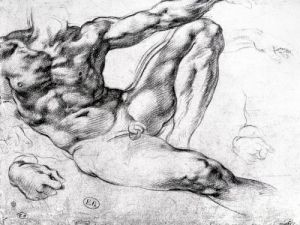 Study for the Creation of Adam by Michelangelo