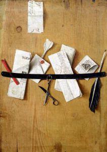 Trompe L'Oeil Still Life by Jean-Francois de la Motte